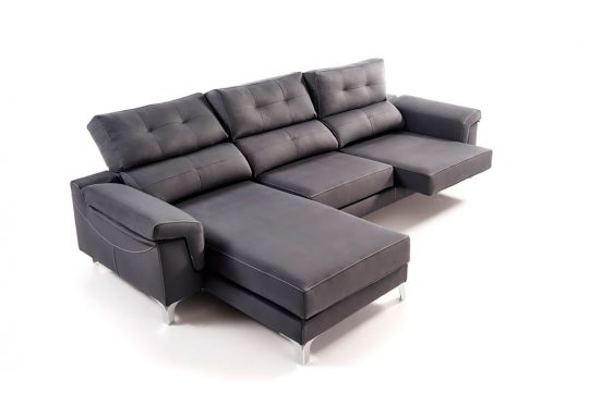 CHAISE LONGUE BLACK