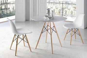 Conjunto mesa nórdica y 2 sillas